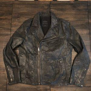 All Saints Standen Leather Jacket